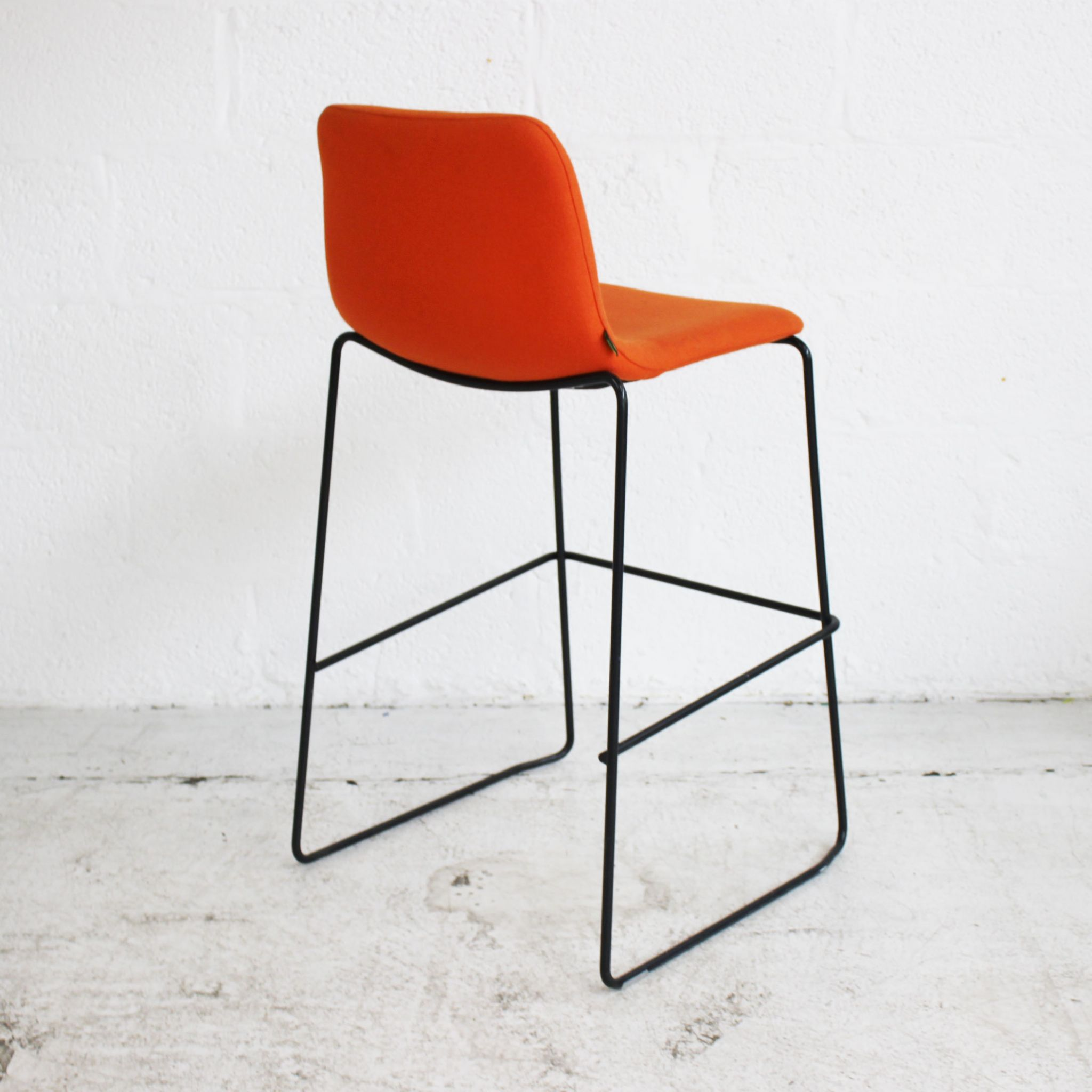 Magnificent Naughtone Viv Stool Orange Bar Stool Upholstered High Caraccident5 Cool Chair Designs And Ideas Caraccident5Info